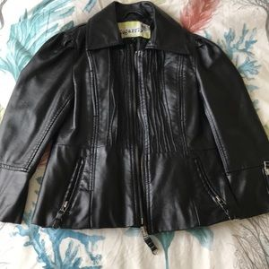 Little girls faux Leather jacket